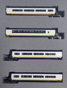 Kato 10-1296 Eurostar 4 Coach Extension Set Classic Livery